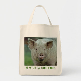 My vote is for turkey dinner. tote bag