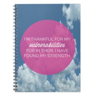 My Vulnerabilities Quote Notebook