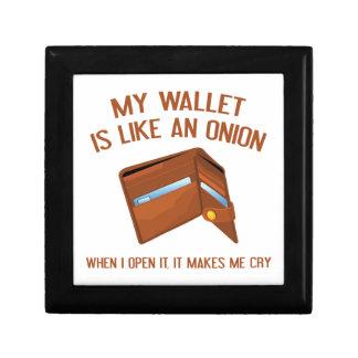 My Wallet Is Like An Onion Keepsake Box