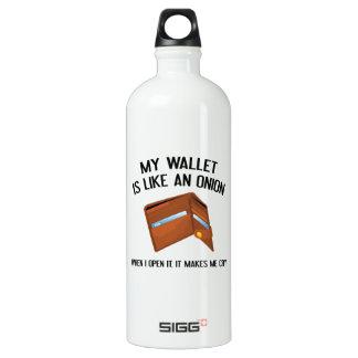 My Wallet Is Like An Onion Water Bottle