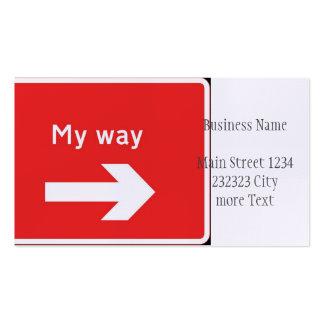 my way business card