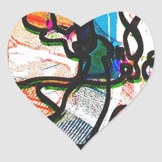 """My Way"" Design! Where everything happens! Heart Sticker"
