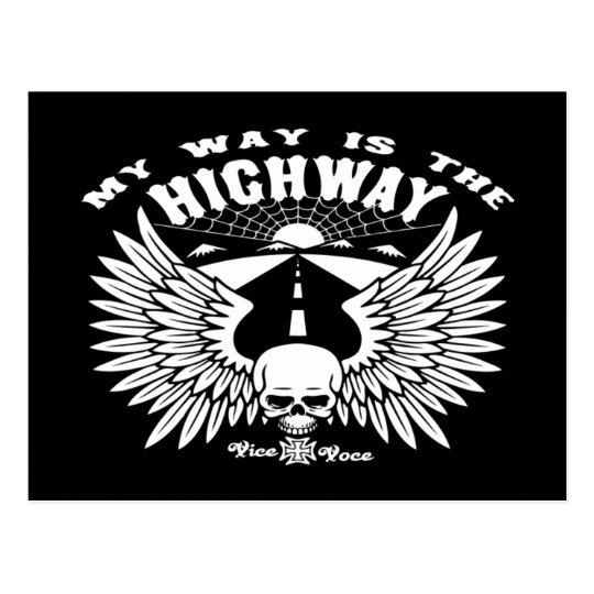 My Way Highway Postcard