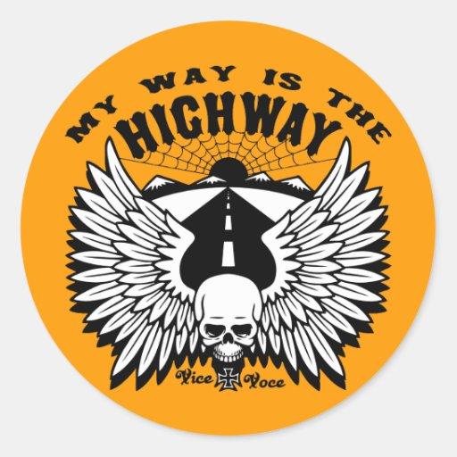 My Way Highway Sticker