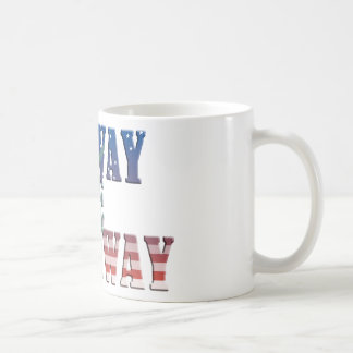 my way is the highway truck USA flag more trucker Coffee Mug