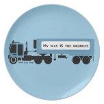 My Way IS The Highway Trucker Plates