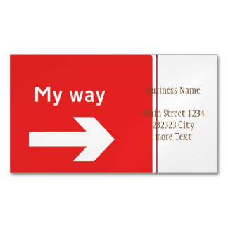 my way magnetic business card