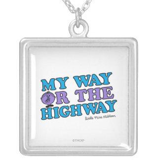 My Way Or The Highway Silver Plated Necklace