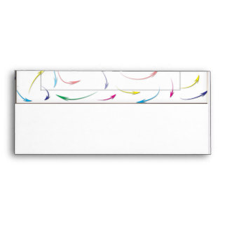 My Way Rainbow Colored Arrows on White Envelope