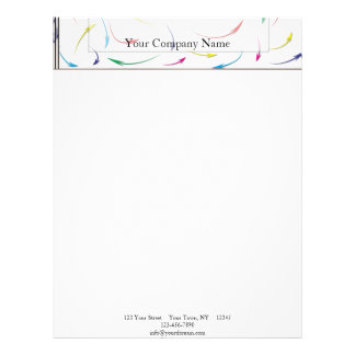 My Way Rainbow Colored Arrows on White Letterhead