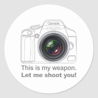 My Weapon Classic Round Sticker