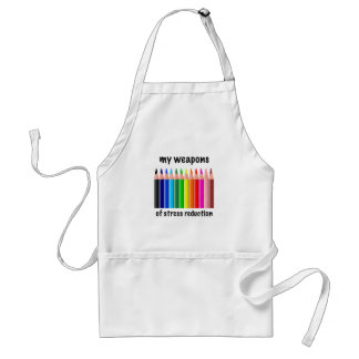My Weapons of Stress Reduction for Colorists Adult Apron