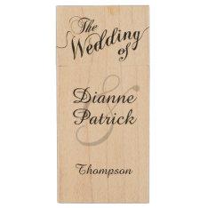 My Wedding Photos, Monogram Wood Flash Drive at Zazzle