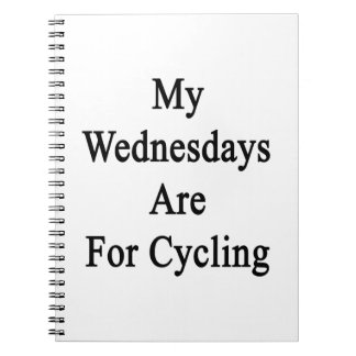 My Wednesdays Are For Cycling Spiral Notebooks