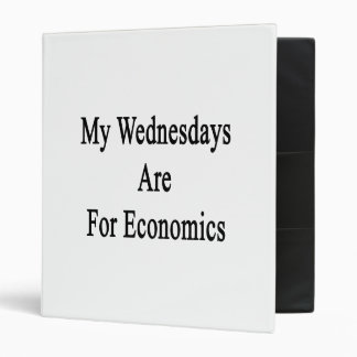 My Wednesdays Are For Economics 3 Ring Binder
