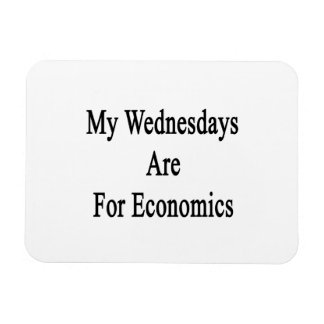 My Wednesdays Are For Economics Rectangle Magnets