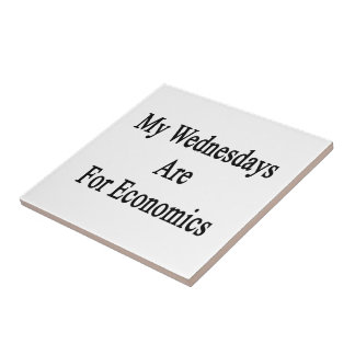 My Wednesdays Are For Economics Small Square Tile