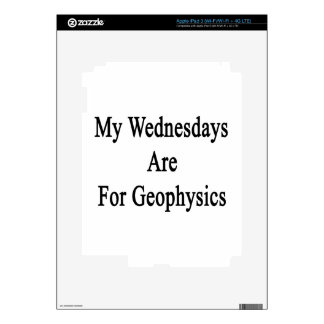 My Wednesdays Are For Geophysics iPad 3 Skins