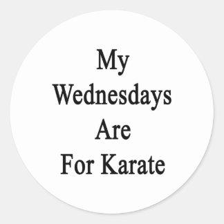 My Wednesdays Are For Karate Classic Round Sticker