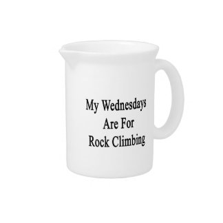My Wednesdays Are For Rock Climbing Pitcher