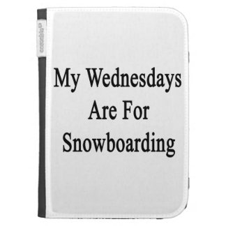 My Wednesdays Are For Snowboarding Kindle Folio Case