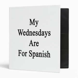 My Wednesdays Are For Spanish Binder