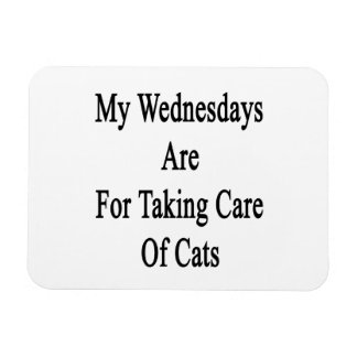 My Wednesdays Are For Taking Care Of Cats Rectangular Photo Magnet