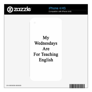 My Wednesdays Are For Teaching English iPhone 4 Decals