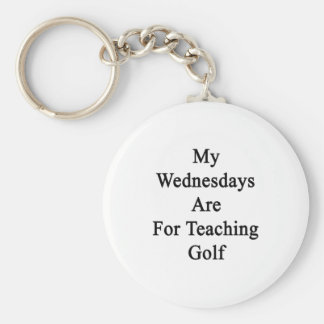 My Wednesdays Are For Teaching Golf Basic Round Button Keychain