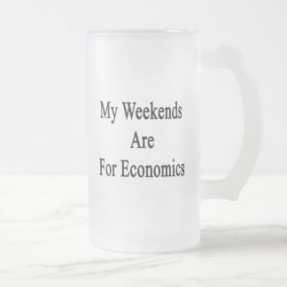My Weekends Are for Econocmis Coffee Mug