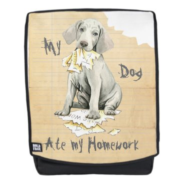 Beach Themed My Weimaraner Ate my Homework Backpack