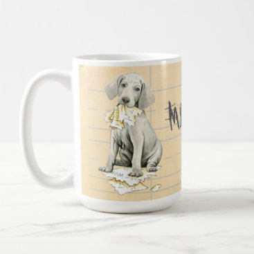 Aztec Themed My Weimaraner Ate my Homework Coffee Mug