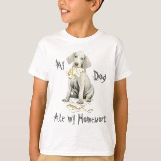 My Weimaraner Ate My Homework T-Shirt