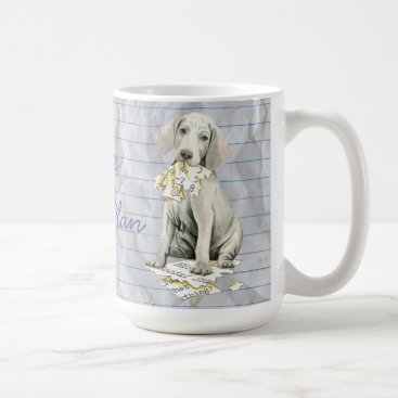 Aztec Themed My Weimaraner Ate my Lesson Plan Coffee Mug