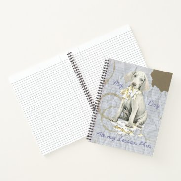 Beach Themed My Weimaraner Ate my Lesson Plan Notebook