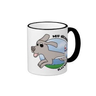 My Weimaraner Loves Agility Coffee Mug