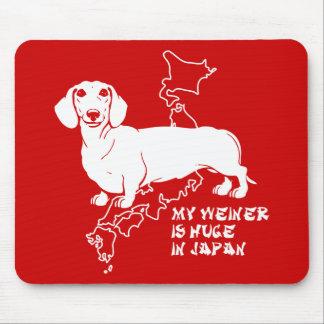 my weiner is huge in japan mouse pad