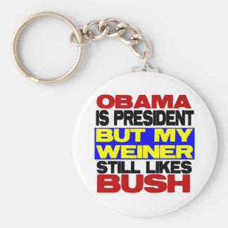 My Weiner Still Likes Bush Keychain