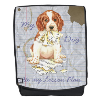 My Welsh Springer Ate My Lesson Plan Backpack