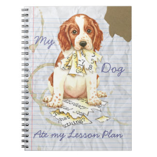 My Welsh Springer Ate My Lesson Plan Notebook
