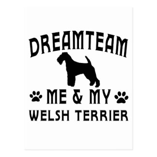 My Welsh Terrier Dog Post Card