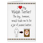 My Welsh Terrier Loves Peanut Butter Cards