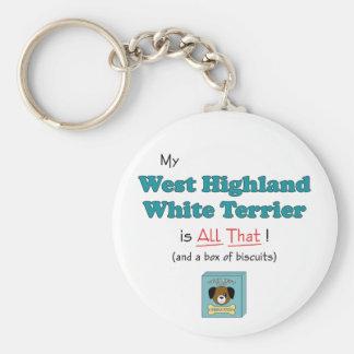 My West Highland White Terrier is All That! Basic Round Button Keychain