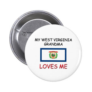 My West Virginia Grandma Loves Me Button