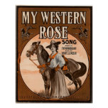 My western rose poster