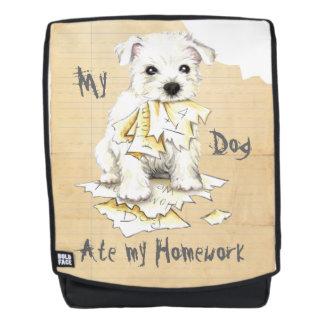 My Westie Ate My Homework Backpack
