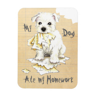My Westie Ate My Homework Rectangular Photo Magnet