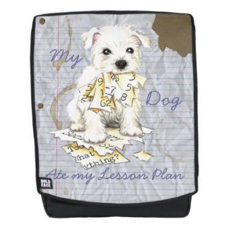 My Westie Ate my Lesson Plan Backpack