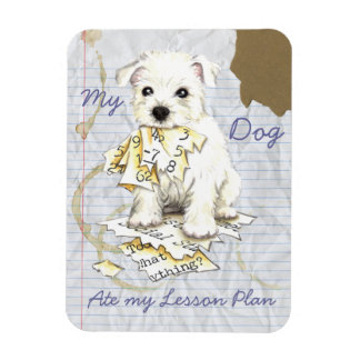 My Westie Ate My Lesson Plan Magnet