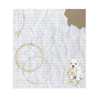My Westie Ate My Lesson Plan Notepad